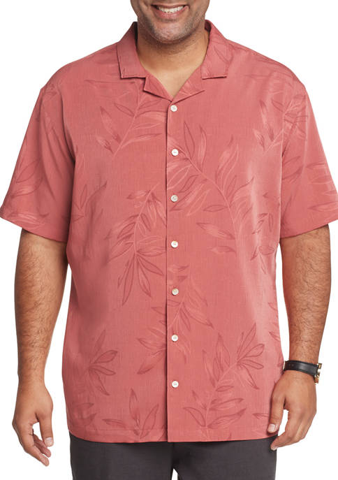 Big & Tall Air Camps Classic Fit Floral Short Sleeve Shirt