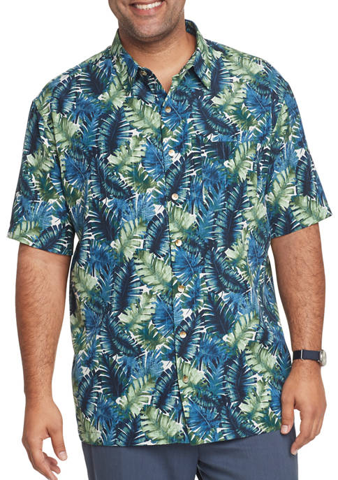 Big & Tall Air Camps Classic Fit Printed Short-Sleeve Shirt