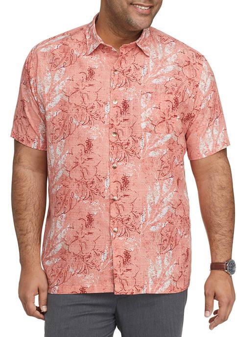 Big & Tall Air Camps Classic Fit Printed Short Sleeve Shirt