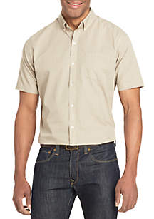 Short Sleeve Wrinkle Free Poplin Shirt
