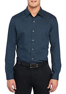 Big & Tall Long Sleeve Dobby Dot Woven Shirt