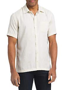 Short Sleeve Air Jacquard Button Down Shirt