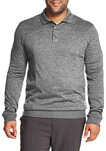 Big & Tall Fleece Polo Sweater