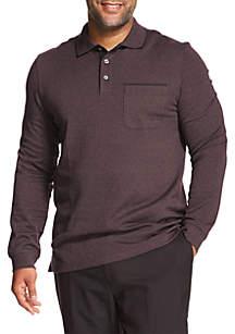 Big & Tall  Flex Long Sleeve Polo Shirt