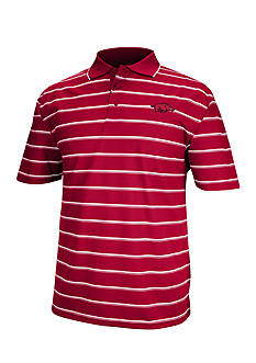 J. America Arkansas Razorbacks Yarn Dyed Drop Needle Polo