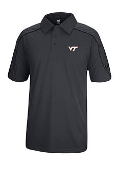 J. America Virginia Tech Hokies Polyester Mesh Polo with Shoulder Paneling and Piping