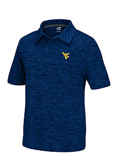 J. America West Virginia Mountaineers Space Dyed Polo