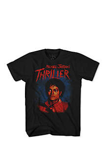 Mad Engine Short Sleeve Michael Jackson Thriller Graphic Tee