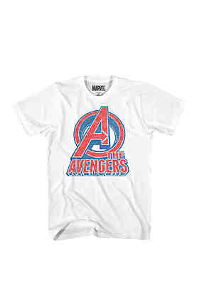 8bf1a87ebdf Mad Engine Avengers Logo Graphic Tee ...