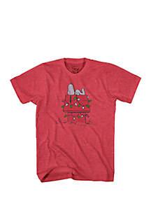 Snoopy Christmas Lights T-Shirt