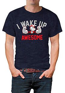 New World Sales Short Sleeve Wake Up Awesome Graphic Tee