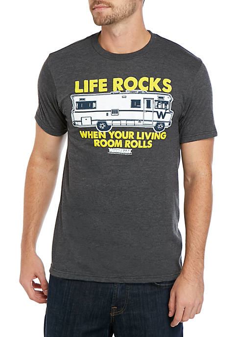 New World Sales Life Rocks Graphic T Shirt