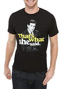 New World Sales Michael Scott That's What She Said Graphic T Shirt
