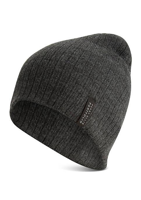Perry Ellis® Ribbed Beanie Hat