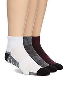 3-Pack No Show Performance Socks