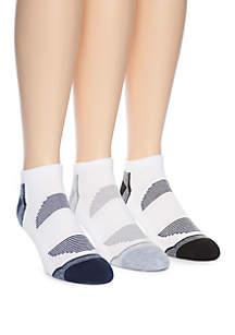 ZELOS 3 Pack Fashion Quarter Socks