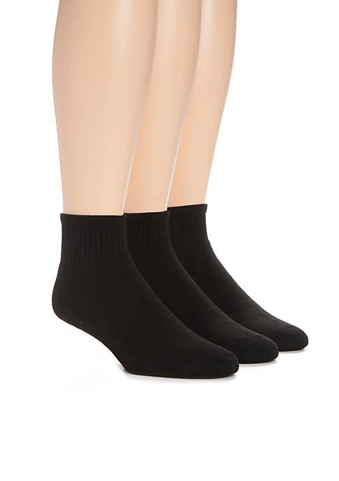 3-Pack Athletic Quarter Socks