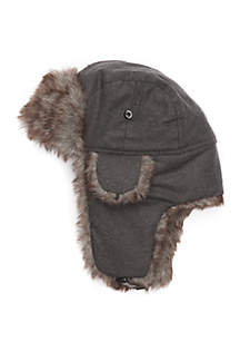 Fur Trim Bomber Hat