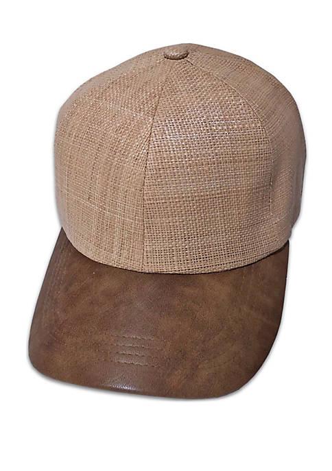 Straw Tan Baseball Cap