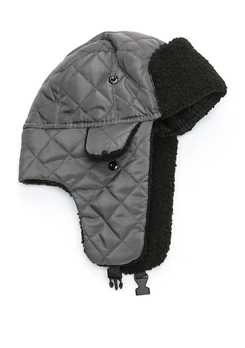 Solid Bomber Hat With Sherpa Lining