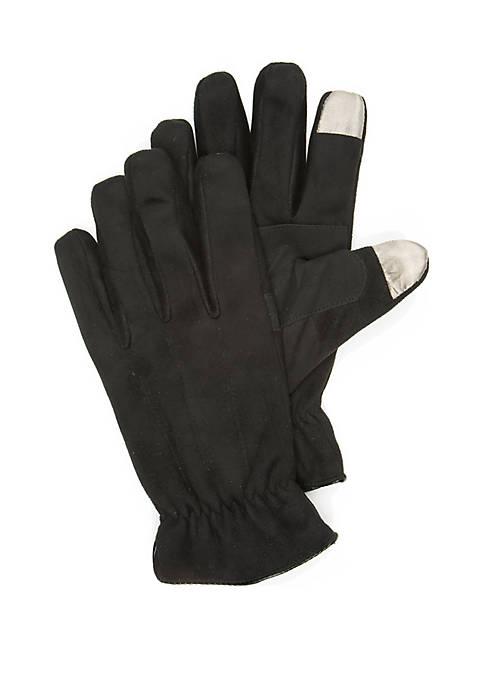 Saddlebred® Mens Microsuede Tech Gloves
