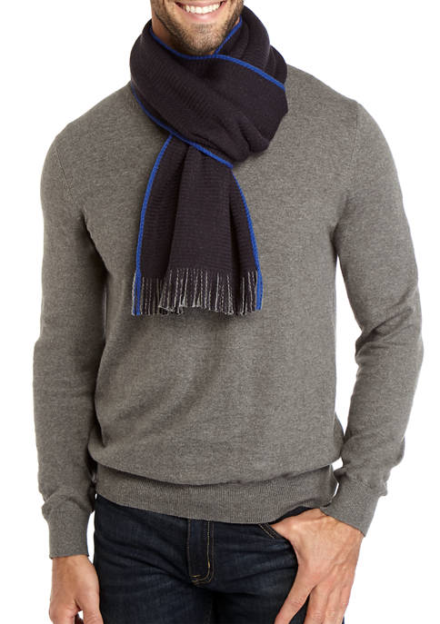 Mens Reversible Knit Scarf