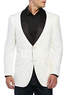 White Stretch Dinner Jacket