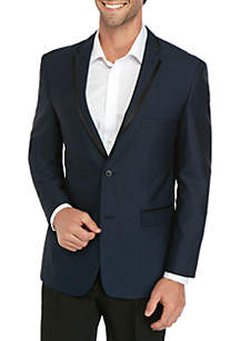 Madison Satin Sport Coat with Lapel Piping
