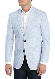 Madison White Blue Paisley Stretch Sportcoat