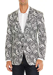 Black and White Paisley Stretch Sportcoat