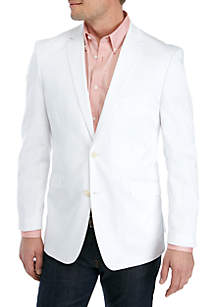 Madison White Solid Stretch Sportcoat