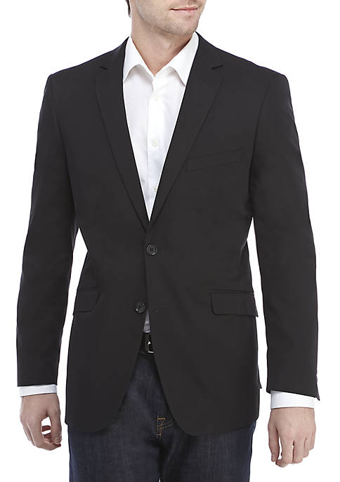 Black Solid Stretch Sport Coat