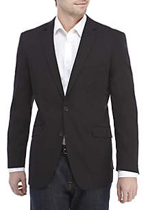 Madison Black Solid Stretch Sport Coat