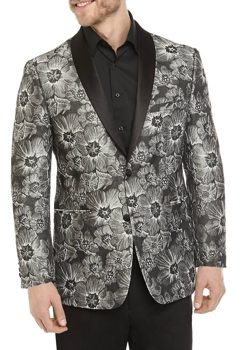 Black and Silver Floral Dinner Jacket