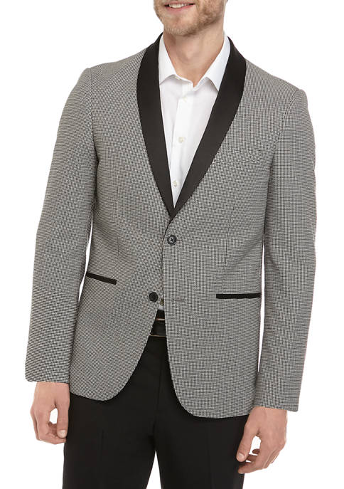Black and White Check Dinner Jacket