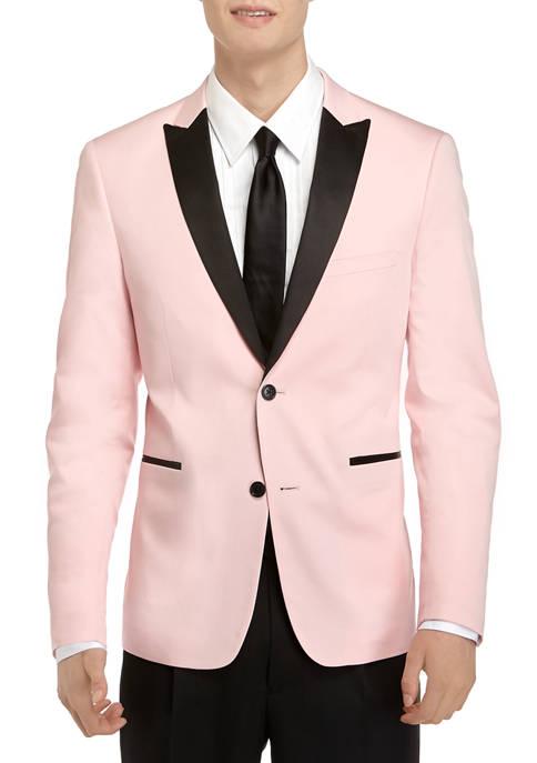 Madison Mens Pink Satin Dinner Jacket