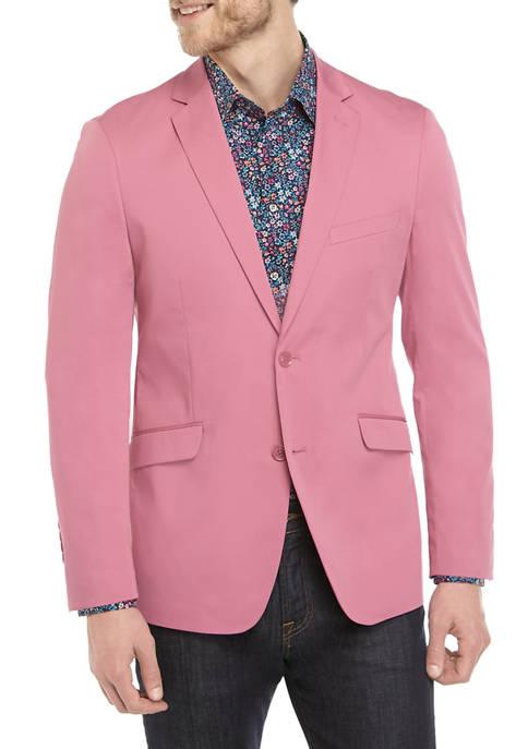 Madison Mens Solid Mauve Sport Coat