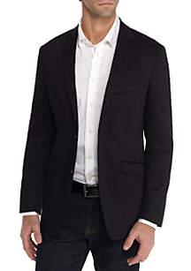 Black Stretch Cotton Blazer