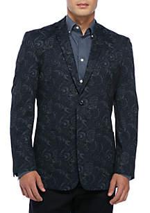 Navy Black Paisley Sport Coat