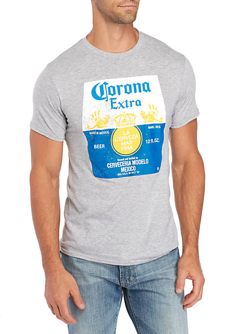 BioWorld Short Sleeve Corona Label Graphic Tee