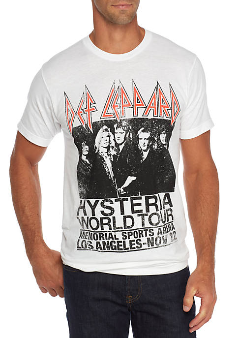BioWorld Short Sleeve Def Leppard Hysteria World Tour