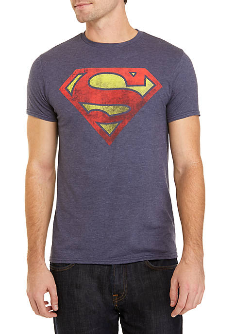 BioWorld Superman Logo Distressed Tee