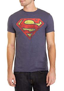BioWorld Superman Logo Distressed Tee