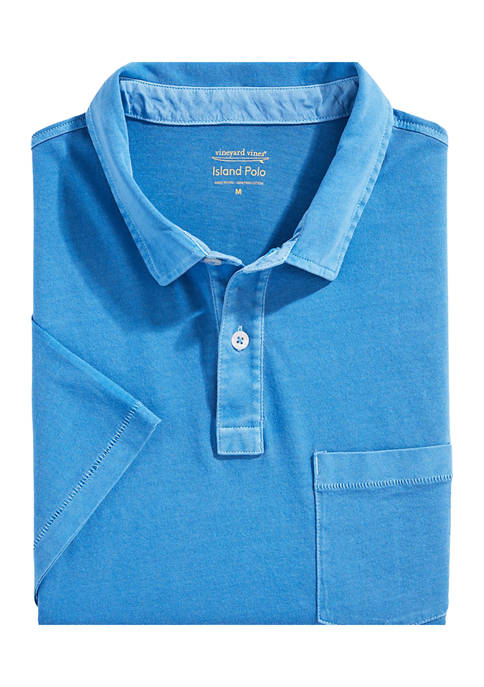 Garment-Dyed Island Polo Shirt