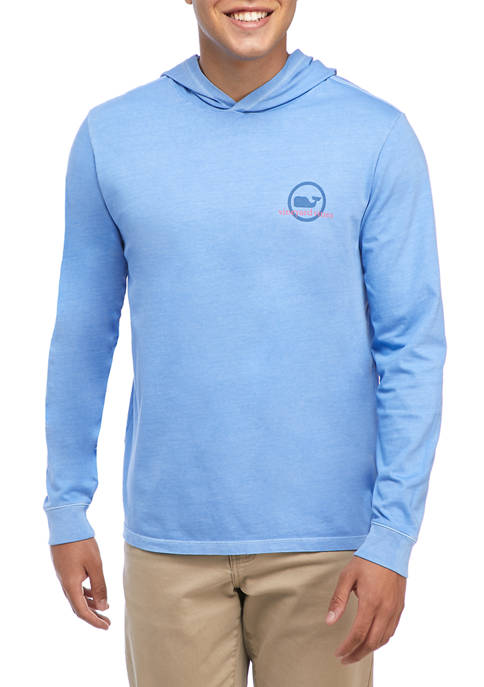 Vineyard Vines Garment Dyed Whale Dot Long-Sleeve Hooded