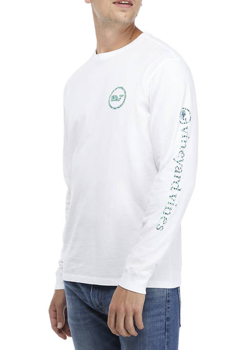 Fish Tails Fill Whale Dot Long-Sleeve T-Shirt