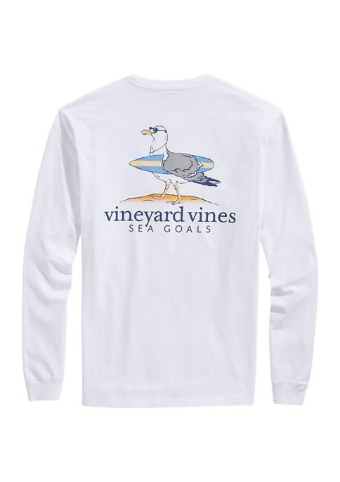 Sea Goals Long-Sleeve Pocket T-Shirt