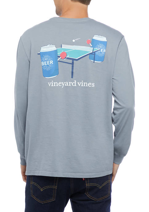 Mens Beer Pong Pocket Graphic T-Shirt
