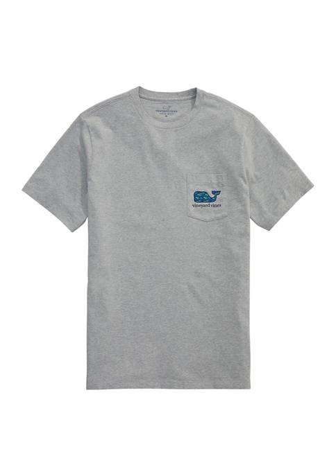 Mens Tarpon Palms Whale Fill Short Sleeve Pocket T-Shirt