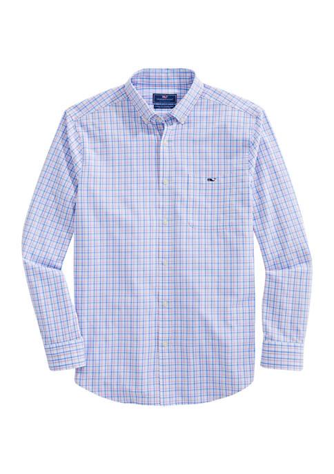 Vineyard Vines Classic Fit Check Performance Cotton Button-Down